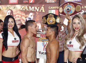 Pesaje Oficial: Juan Francisco Estrada 112 lbs. Vs. Rommel Asenjo 111.7 lbs.