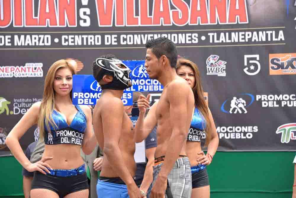 Saguilán y Villasana a punto de adelantar combate en Tlalnepantla